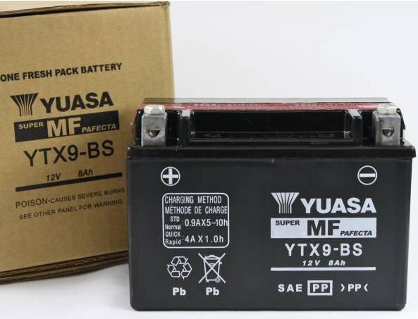 ytx9 bs yuasa battery 12v 8ah for motorcycle tradeasia. Black Bedroom Furniture Sets. Home Design Ideas