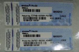 Windows 7 Pro Coa Key Label Sticker License X16 Blue