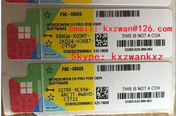 windows 10 pro product key sticker