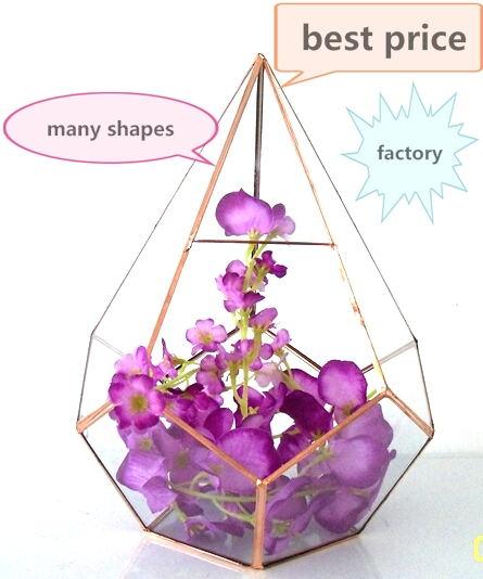 Glass Crafts Wholesale Geometric Glass Terrarium Air Plant Glass