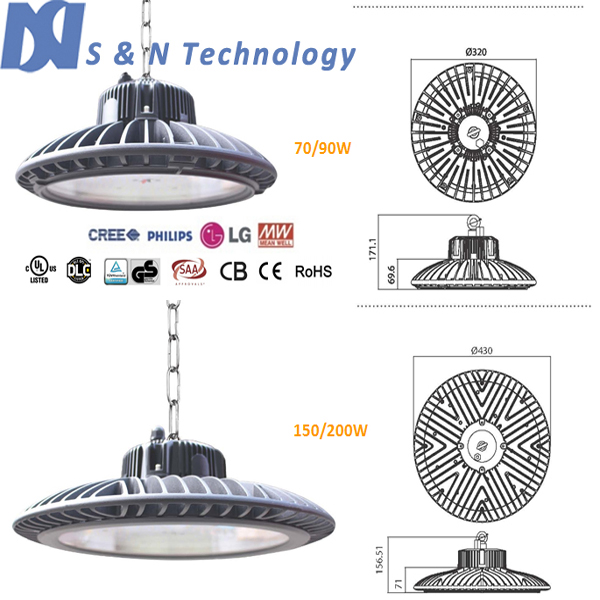 Led High Bay Light Malaysia: SN-LUX-HBR-150, 150w High Bay Light With Philips 3030 Leds