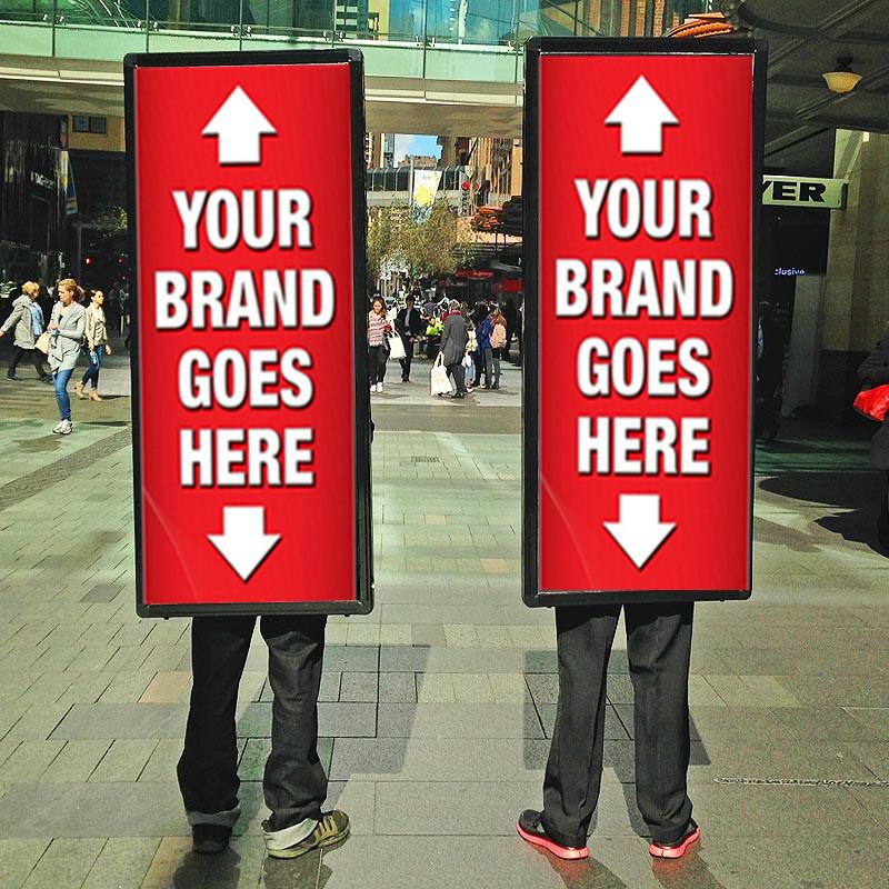 Image result for walking billboard