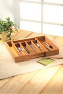 Bamboo tableware storage box