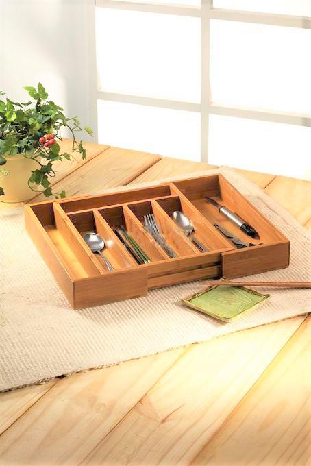 Bamboo tableware storage box